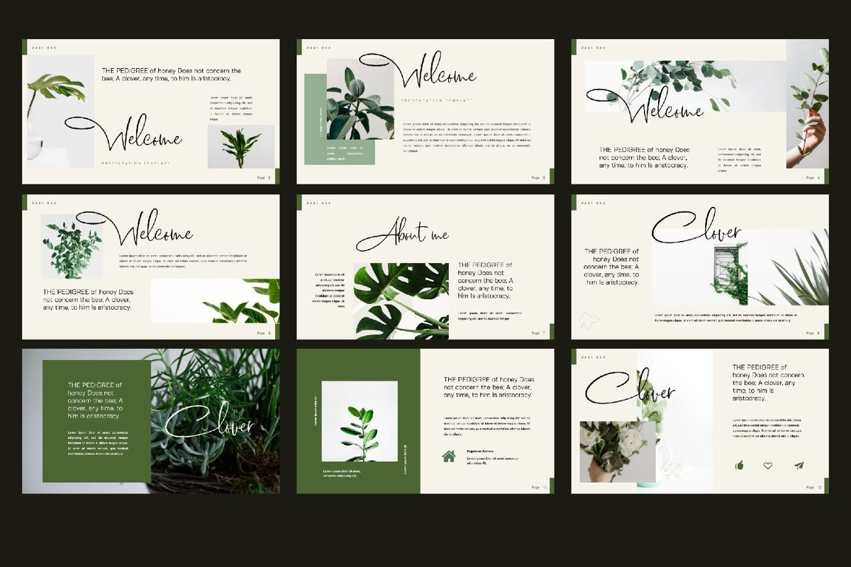 Clover Creative Powerpoint, Slide 3, 06131, Presentation Templates — PoweredTemplate.com
