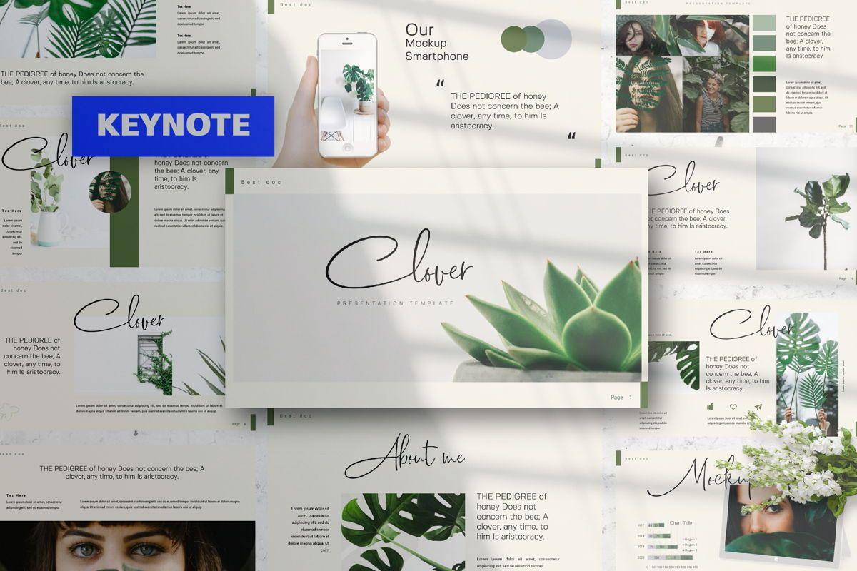 Clover Creative Keynote, 06132, Presentation Templates — PoweredTemplate.com
