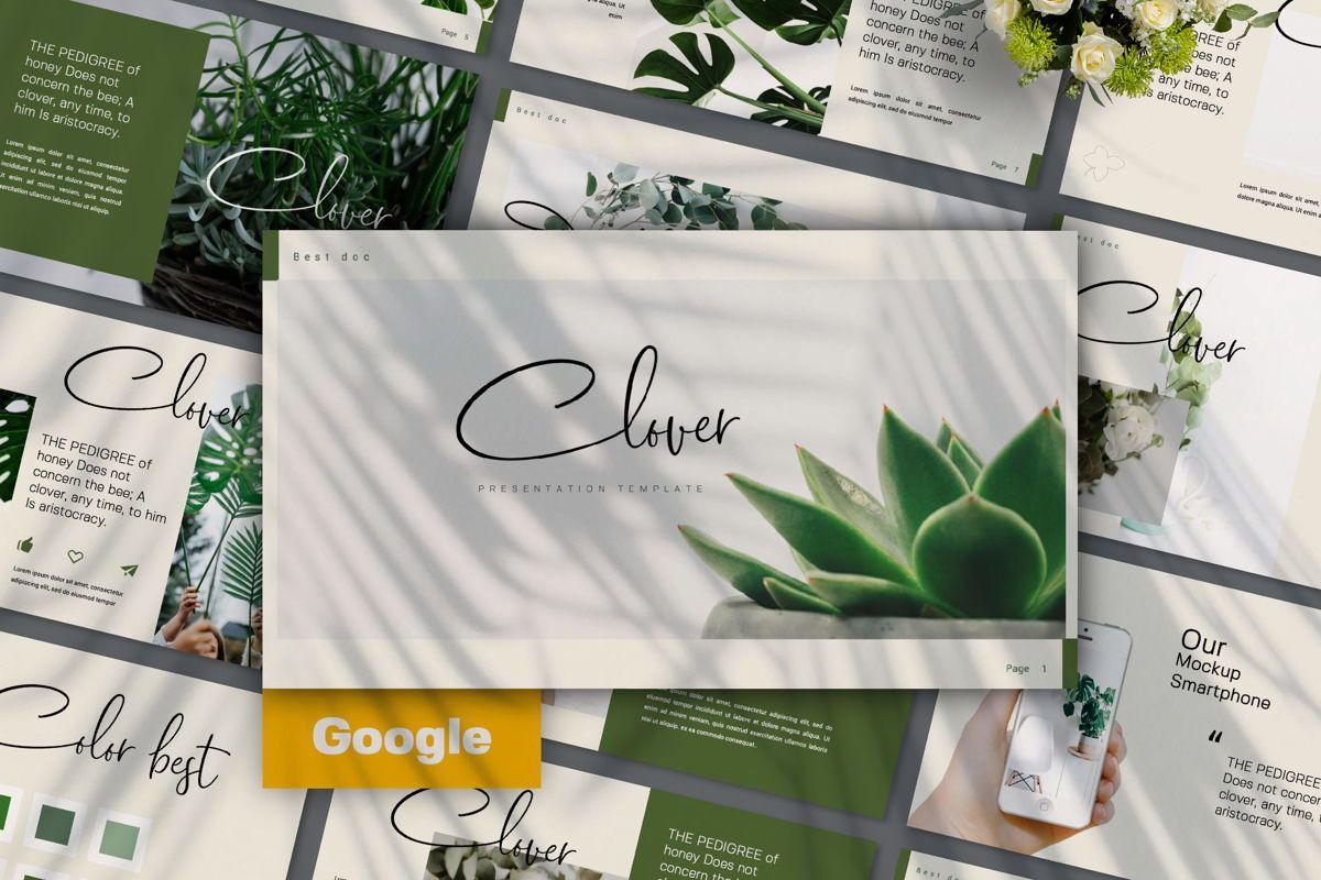 Clover Creative Google Slide, 06133, Presentation Templates — PoweredTemplate.com