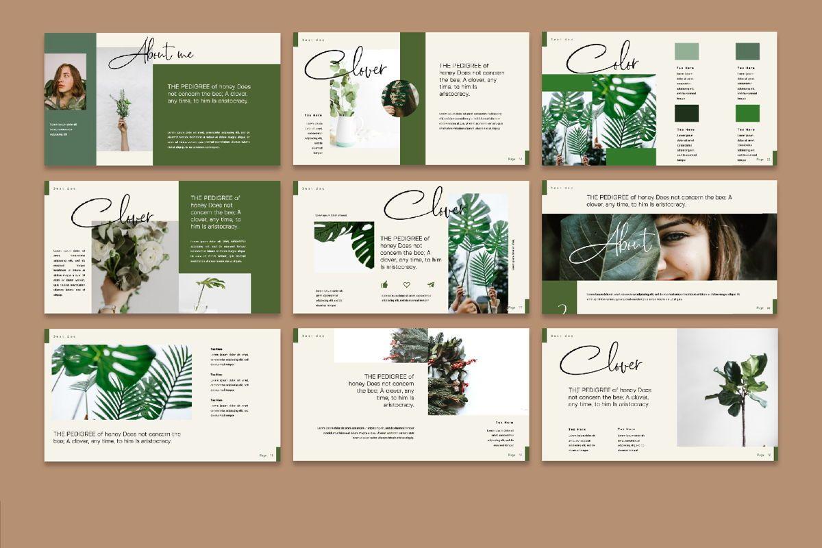 Clover Creative Google Slide, Slide 4, 06133, Presentation Templates — PoweredTemplate.com