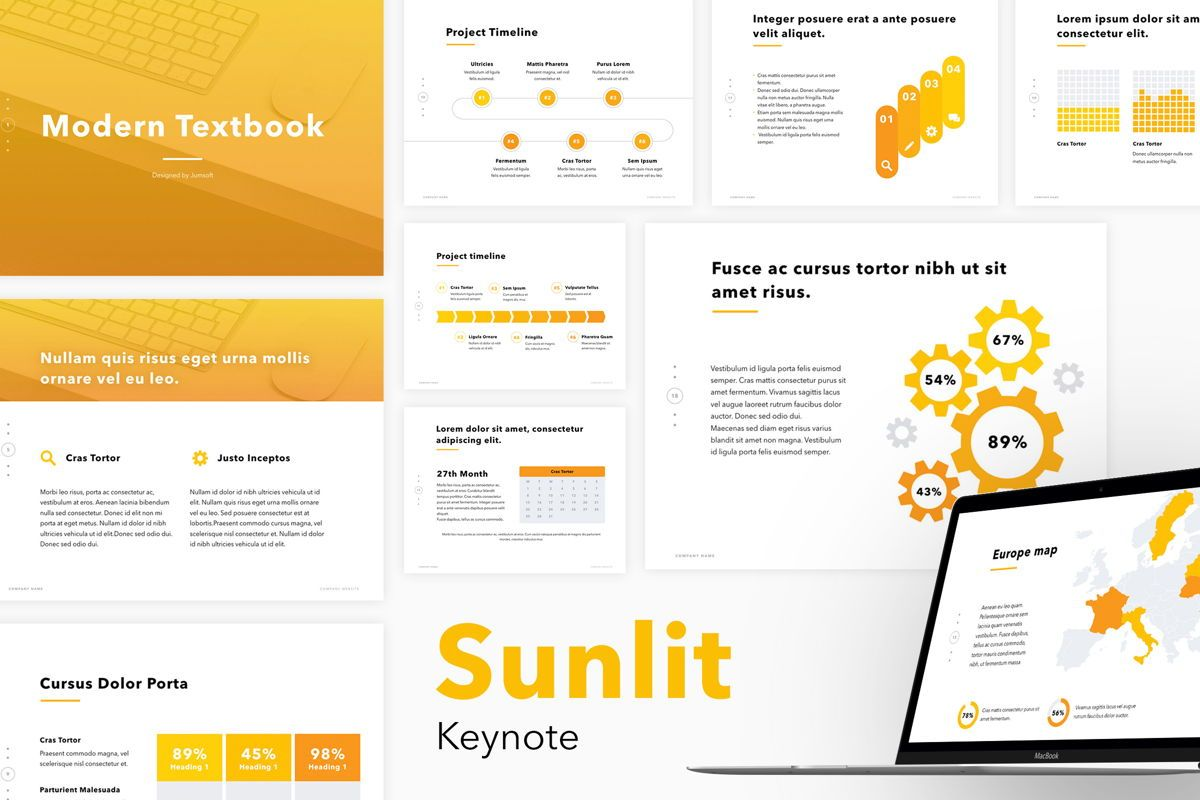 Sunlit Keynote Template, 06134, Presentation Templates — PoweredTemplate.com