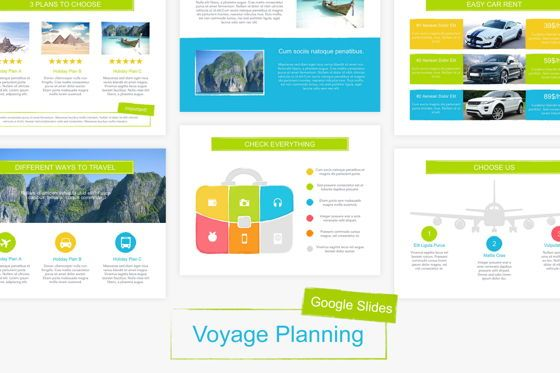 Presentation Templates: Voyage Google Slides Template #06135