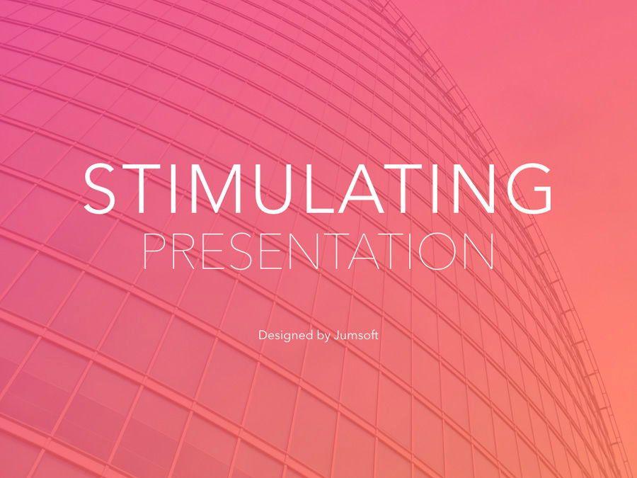 Stimulating Keynote Template, Slide 2, 06137, Presentation Templates — PoweredTemplate.com