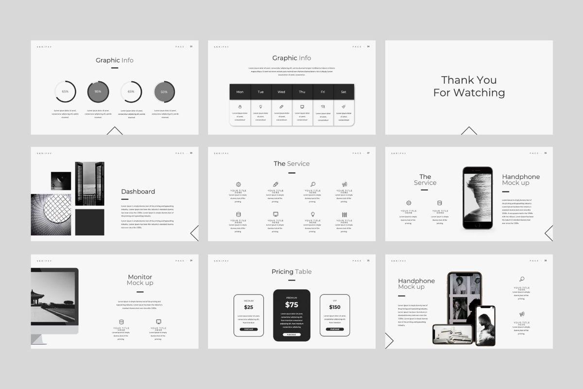 Skripxy Creative Google Slide, Slide 4, 06139, Presentation Templates — PoweredTemplate.com