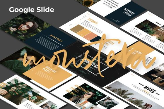 Presentation Templates: Monstera Creative Google Slide #06143
