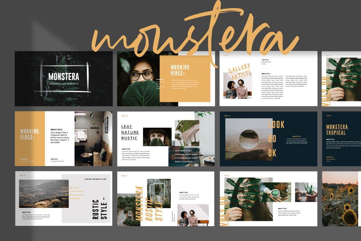 Monstera Creative Powerpoint, 06144, Presentation Templates — PoweredTemplate.com