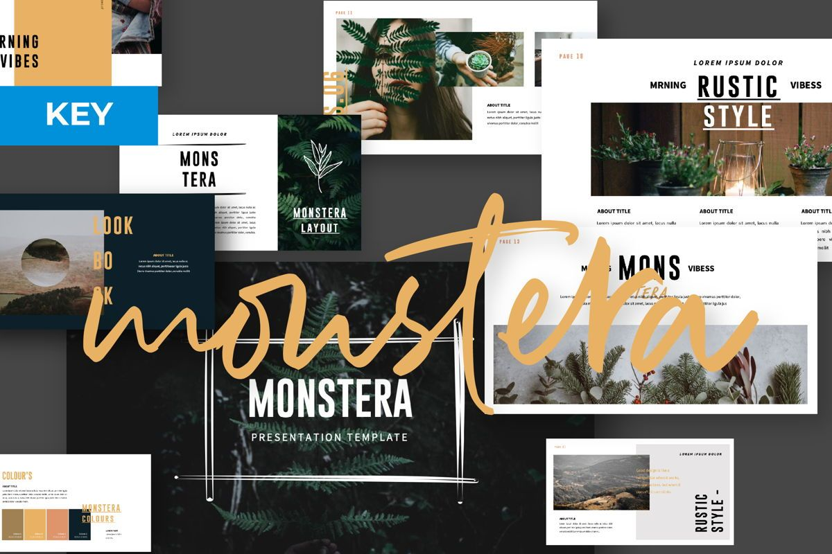 Monstera Creative Keynote, 06145, Presentation Templates — PoweredTemplate.com