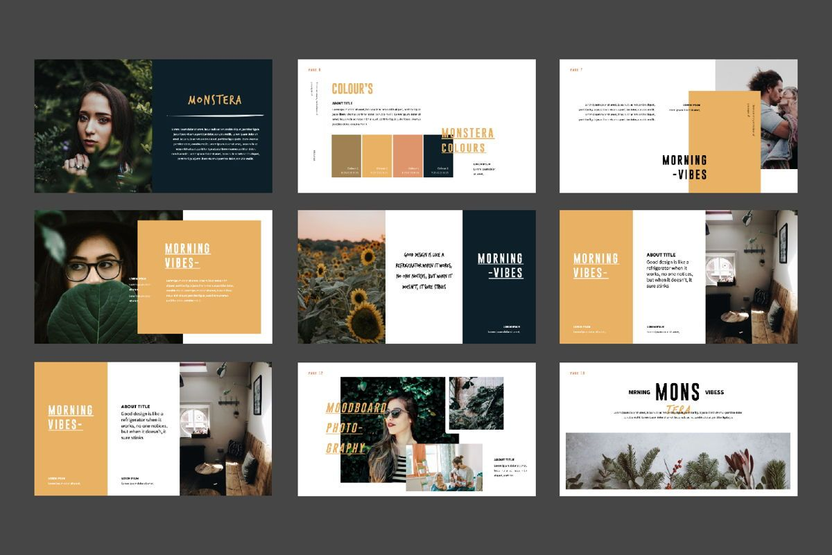 Monstera Creative Keynote, Slide 2, 06145, Presentation Templates — PoweredTemplate.com