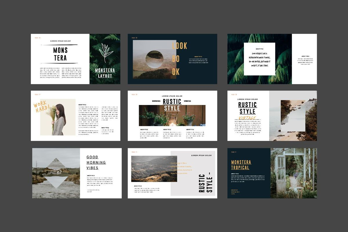 Monstera Creative Keynote, Slide 3, 06145, Presentation Templates — PoweredTemplate.com