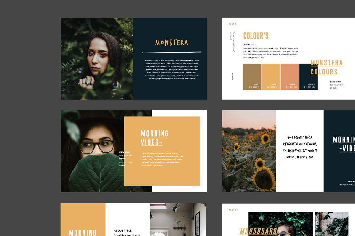 Monstera Creative Keynote, Slide 5, 06145, Presentation Templates — PoweredTemplate.com
