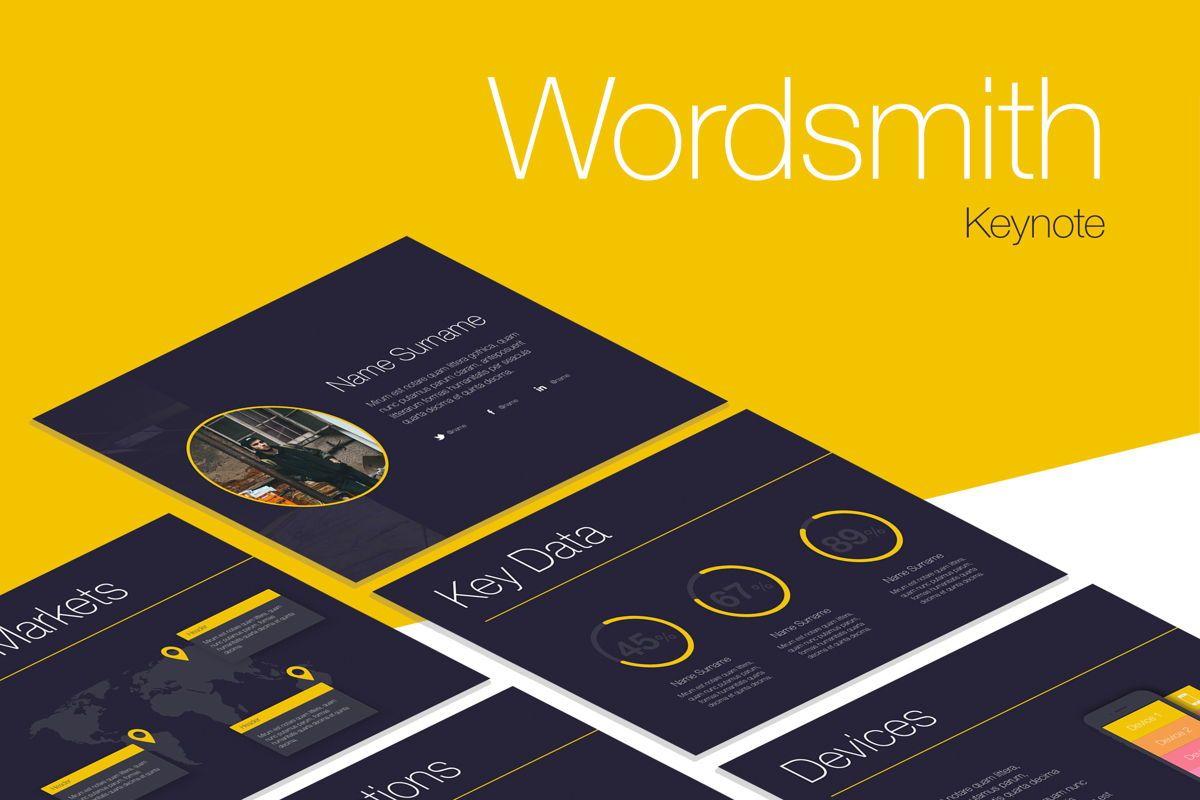 Wordsmith Keynote Template, 06148, Presentation Templates — PoweredTemplate.com