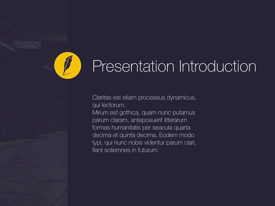 Wordsmith Keynote Template, Slide 4, 06148, Presentation Templates — PoweredTemplate.com