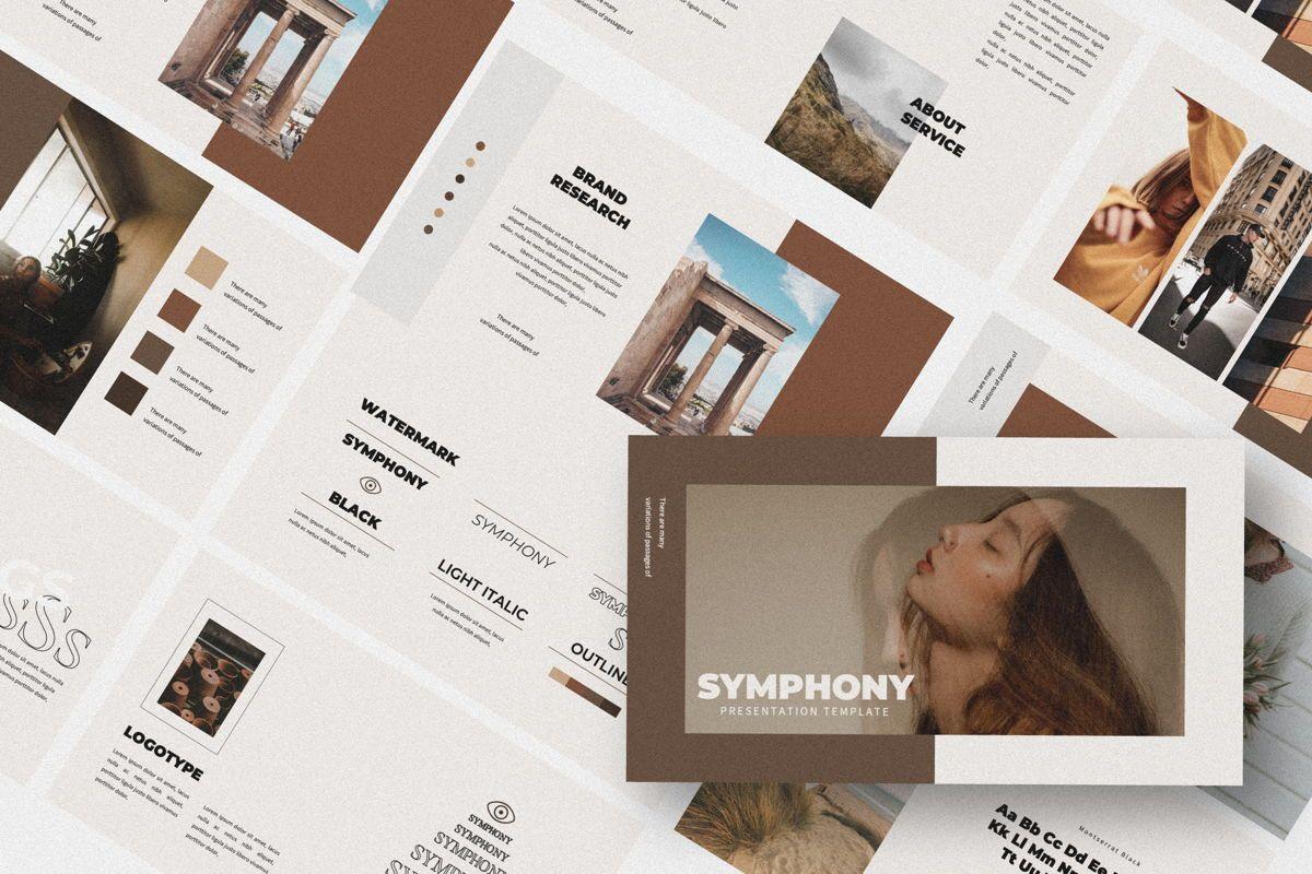 Symphony Creative Google Slide, 06151, Presentation Templates — PoweredTemplate.com