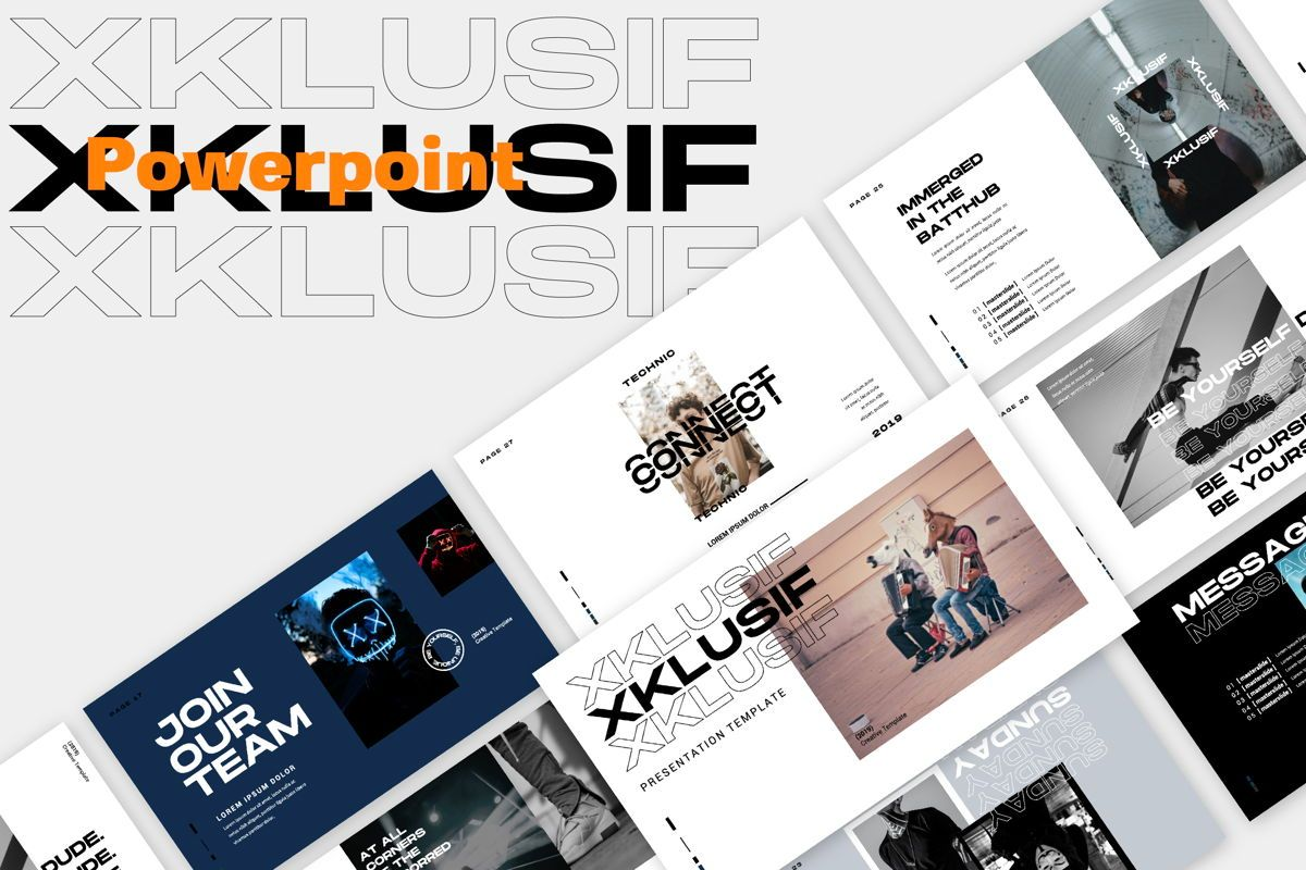 Xklusif Creative Powerpoint, 06152, Presentation Templates — PoweredTemplate.com