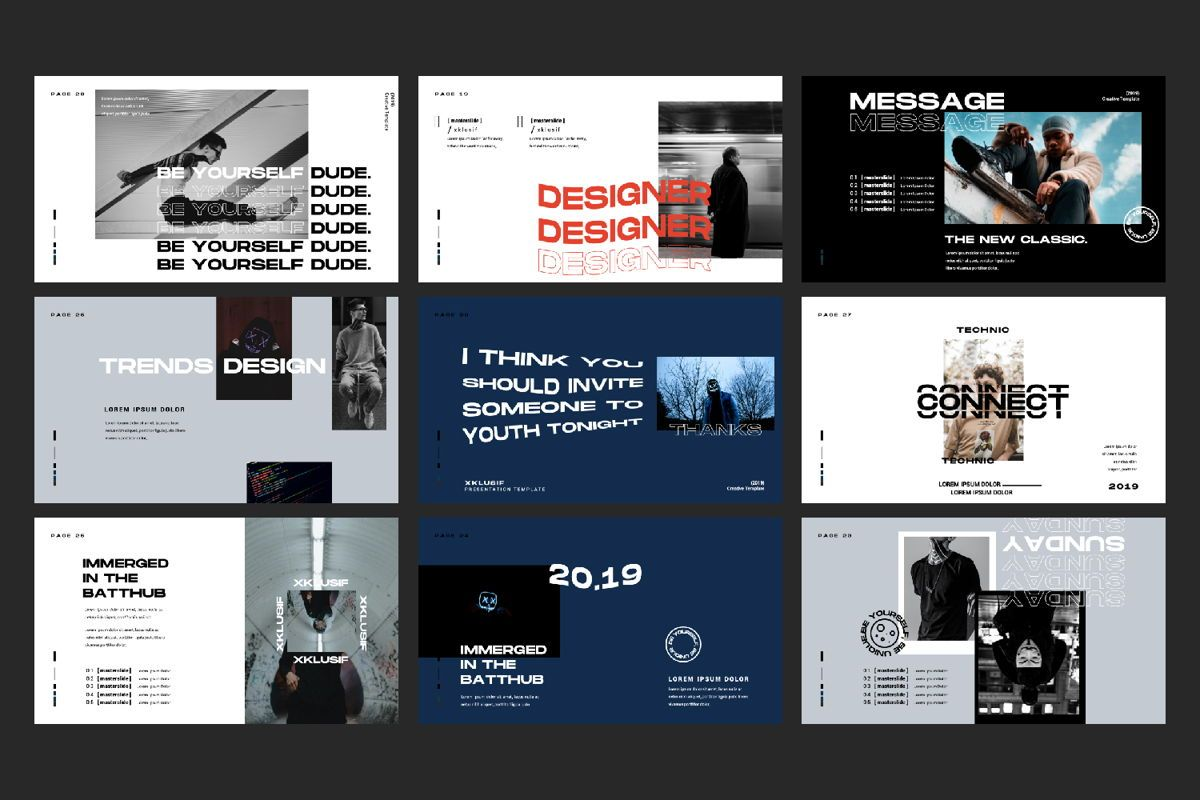 Xklusif Creative Powerpoint, Slide 2, 06152, Presentation Templates — PoweredTemplate.com