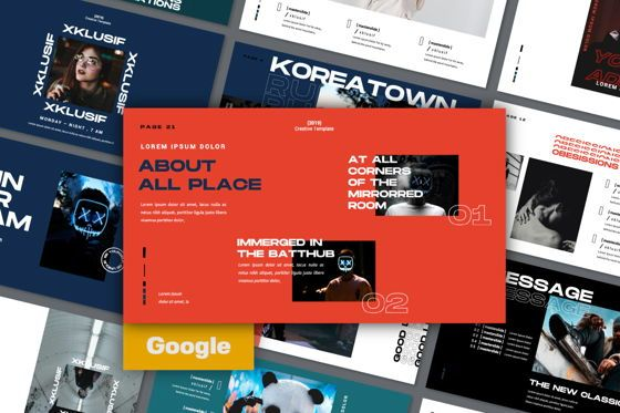 Presentation Templates: Xklusif Creative Google Slide #06153
