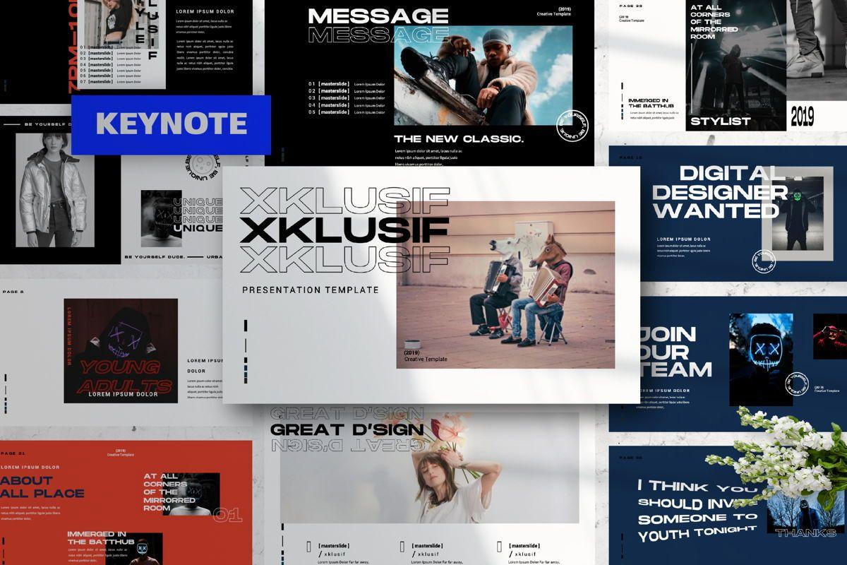 Xklusif Creative Keynote, 06154, Presentation Templates — PoweredTemplate.com
