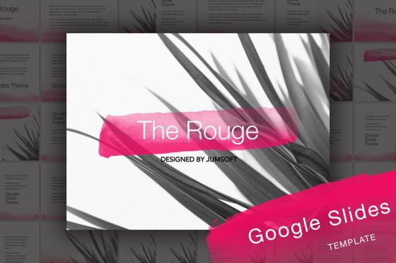 Presentation Templates: The Rouge Google Slides Template #06155