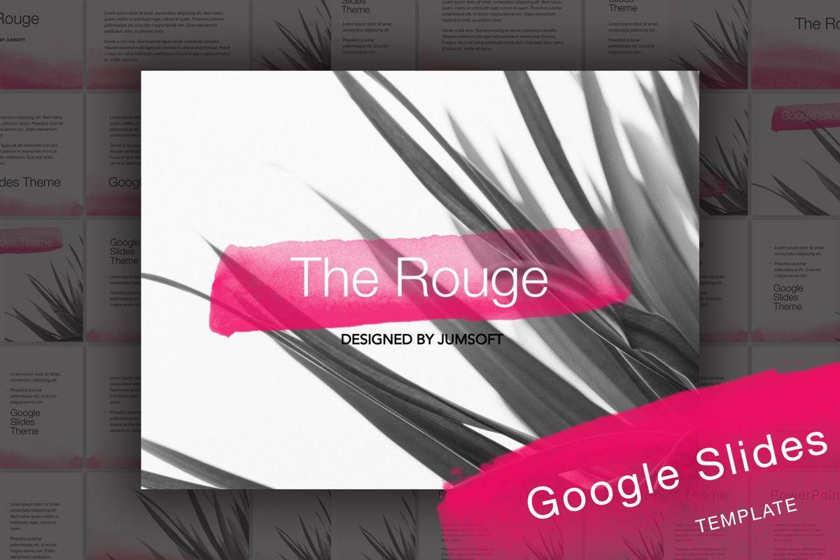 The Rouge Google Slides Template, 06155, Presentation Templates — PoweredTemplate.com