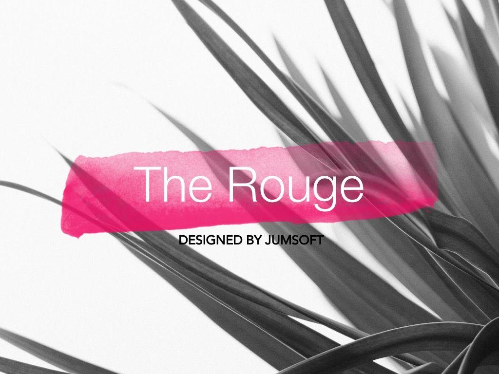 The Rouge Google Slides Template, Slide 2, 06155, Presentation Templates — PoweredTemplate.com