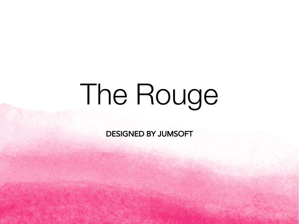 The Rouge Google Slides Template, Slide 3, 06155, Presentation Templates — PoweredTemplate.com