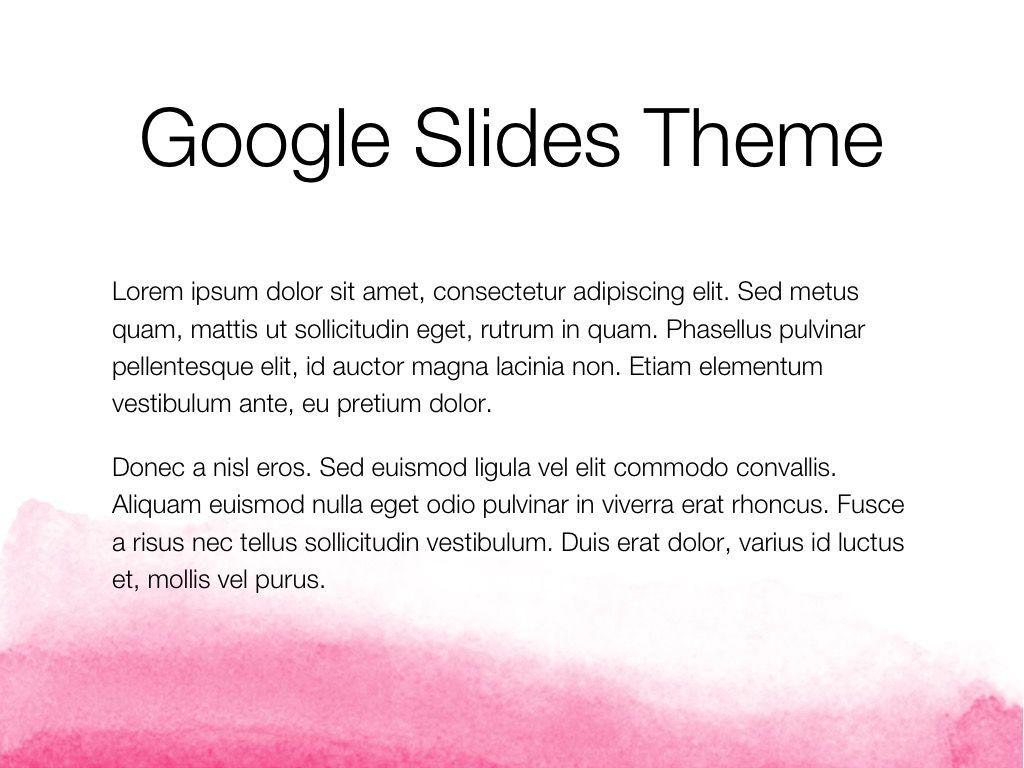 The Rouge Google Slides Template, Slide 4, 06155, Presentation Templates — PoweredTemplate.com