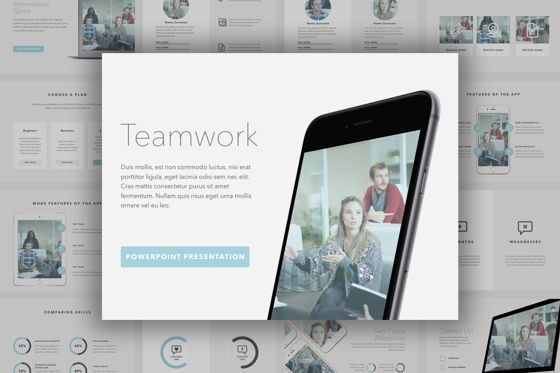 Presentation Templates: Teamwork PowerPoint Template #06156