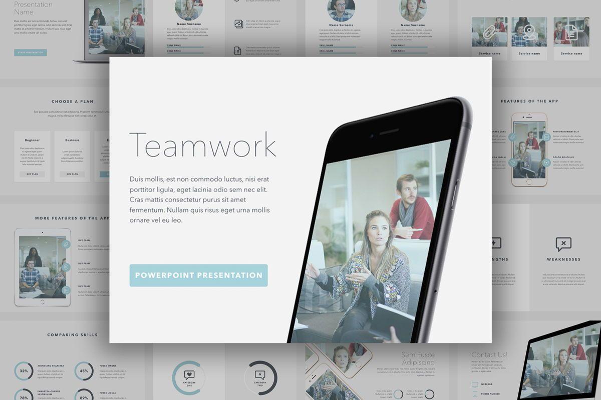 Teamwork PowerPoint Template, 06156, Presentation Templates — PoweredTemplate.com