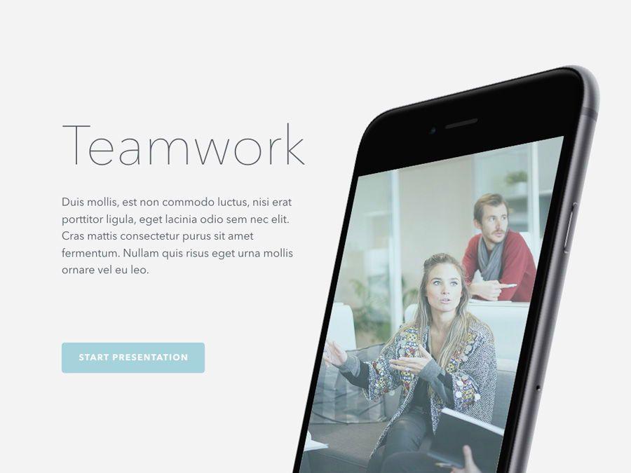 Teamwork PowerPoint Template, Slide 2, 06156, Presentation Templates — PoweredTemplate.com
