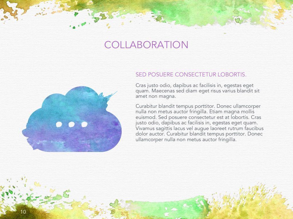 Watercolor Google Slides Template, Slide 11, 06157, Presentation Templates — PoweredTemplate.com