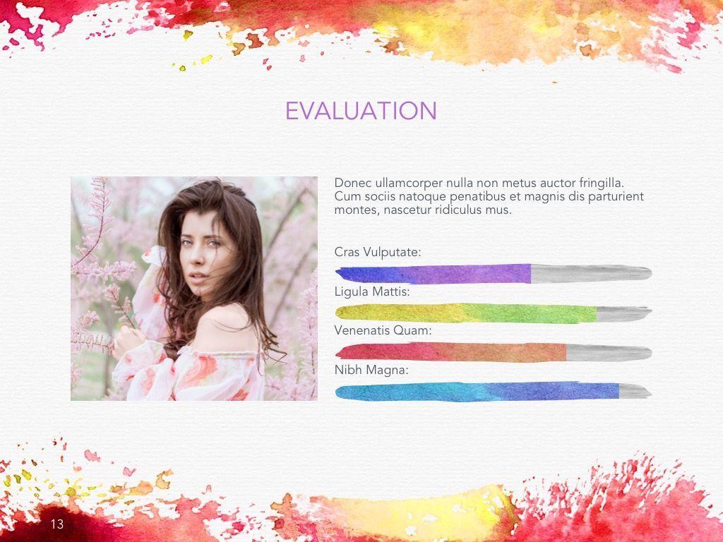 Watercolor Google Slides Template, Slide 14, 06157, Presentation Templates — PoweredTemplate.com