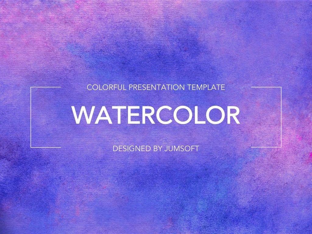 Watercolor Google Slides Template, Slide 2, 06157, Presentation Templates — PoweredTemplate.com