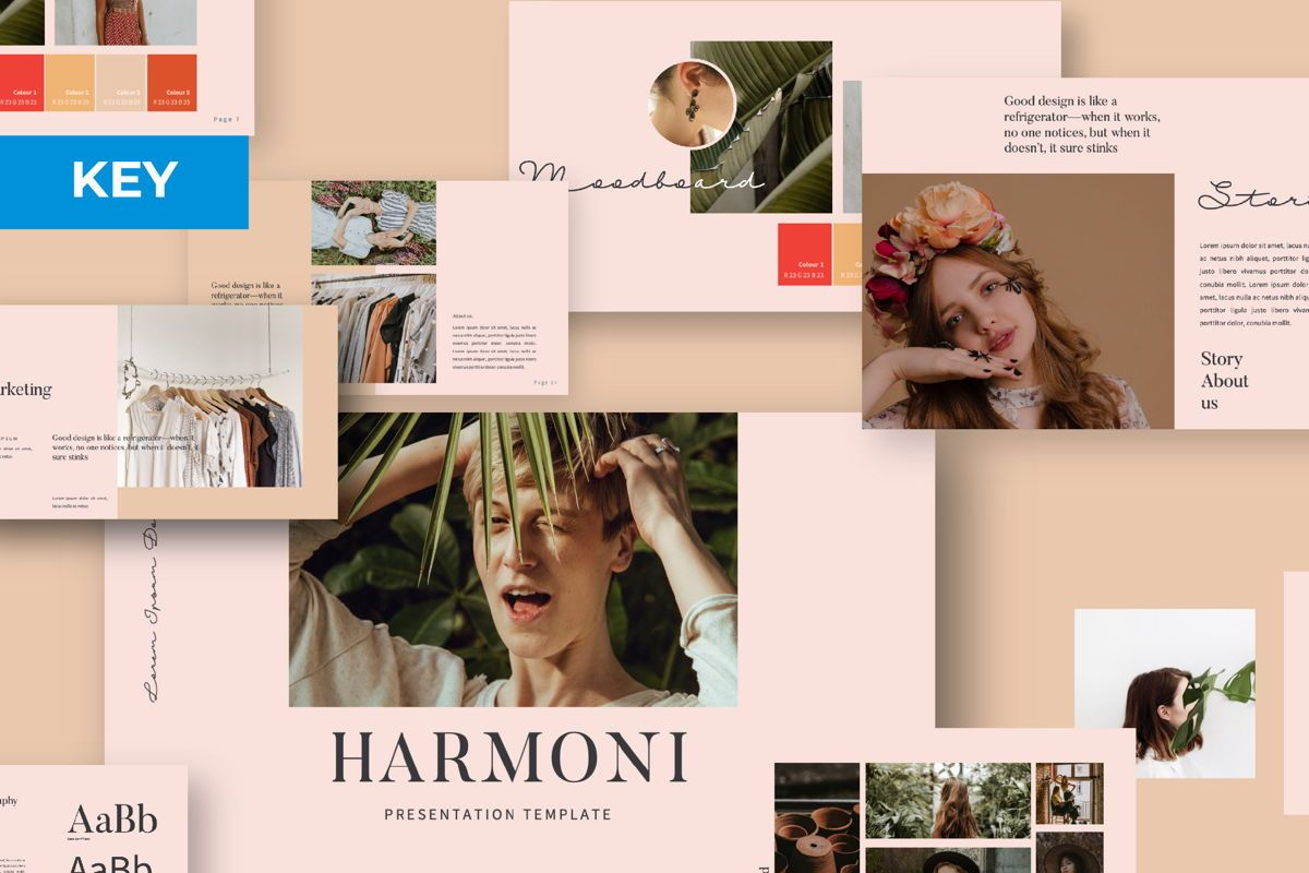 Harmoni Creative Keynote, 06160, Presentation Templates — PoweredTemplate.com