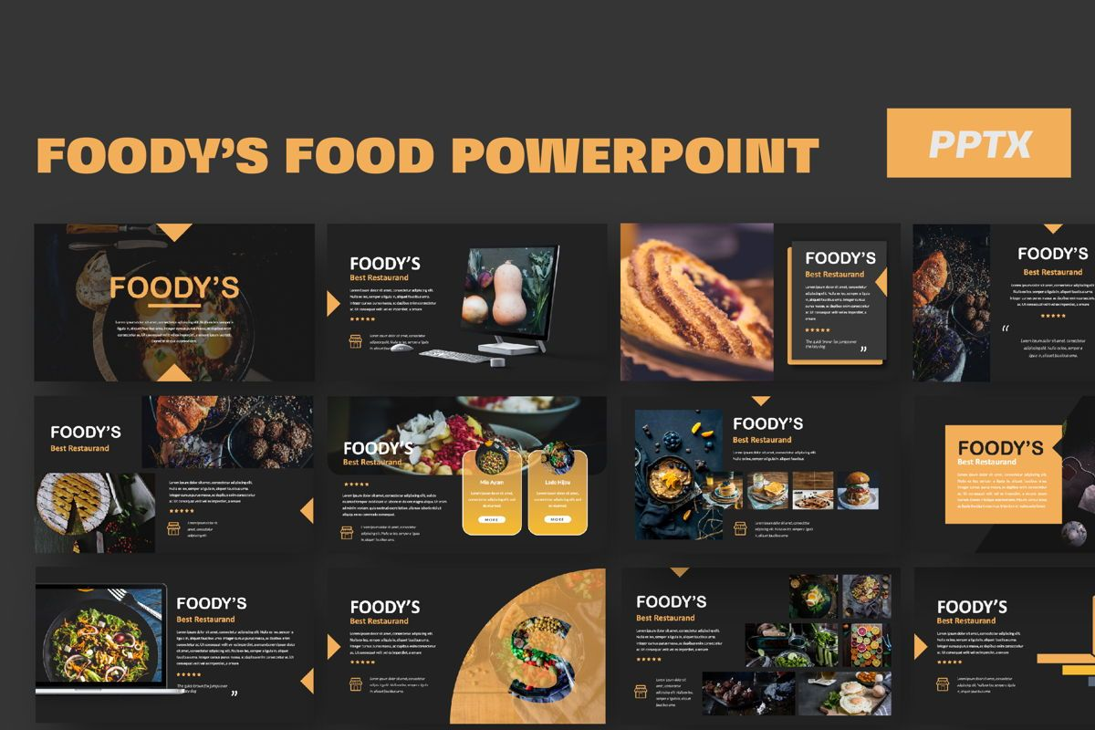 Foody Creative Powerpoint, 06161, Presentation Templates — PoweredTemplate.com