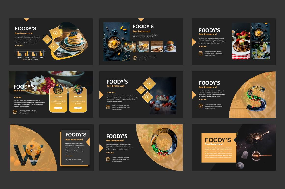 Foody Creative Powerpoint, Slide 3, 06161, Presentation Templates — PoweredTemplate.com