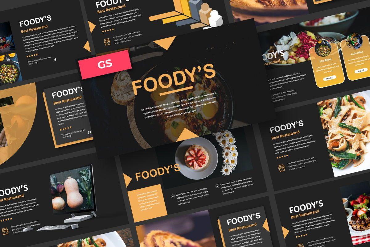 Foody Creative Google Slide, 06162, Presentation Templates — PoweredTemplate.com