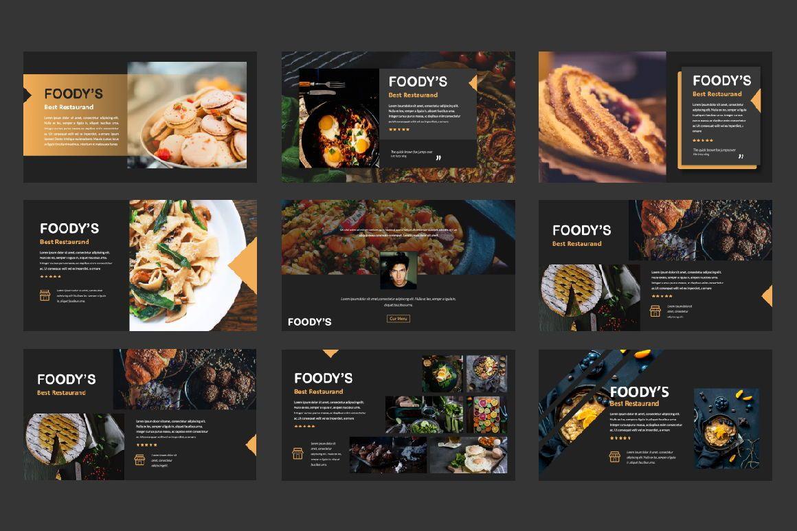 Foody Creative Google Slide, Slide 2, 06162, Presentation Templates — PoweredTemplate.com
