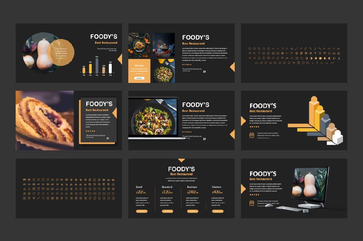Foody Creative Google Slide, Slide 4, 06162, Presentation Templates — PoweredTemplate.com