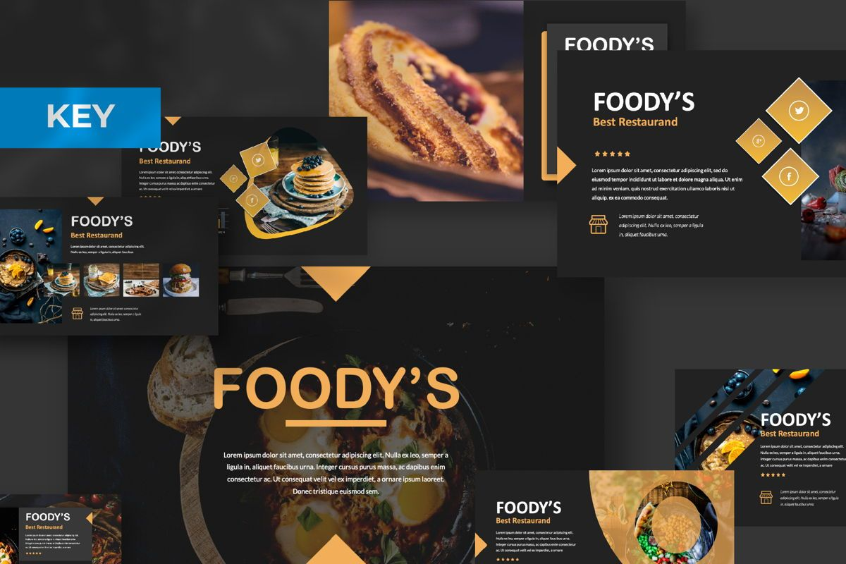 Foody Creative Keynote, 06163, Presentation Templates — PoweredTemplate.com