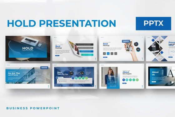 Presentation Templates: Hold Business Powerpoint #06164