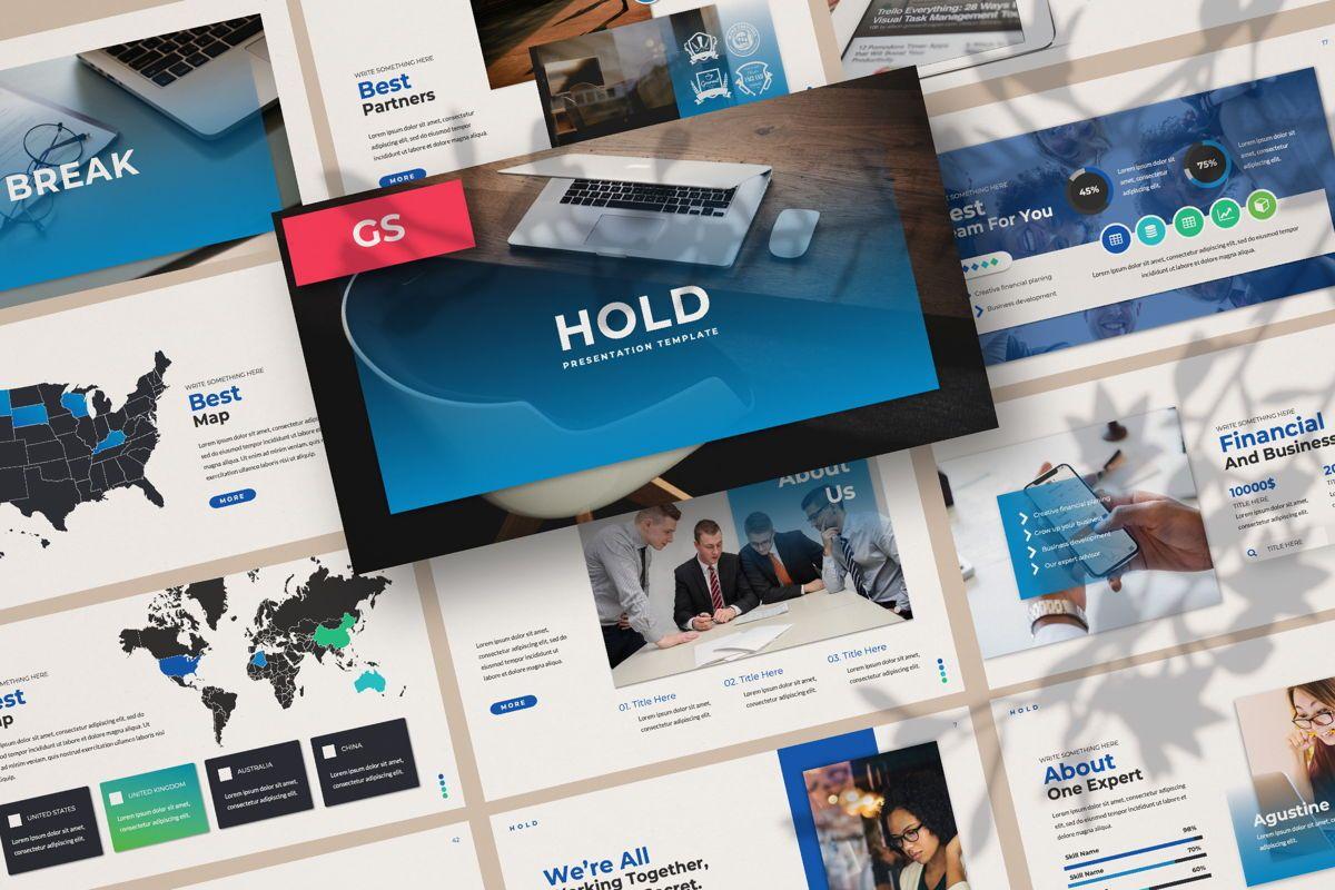 Hold Business Google Slide, 06165, Presentation Templates — PoweredTemplate.com