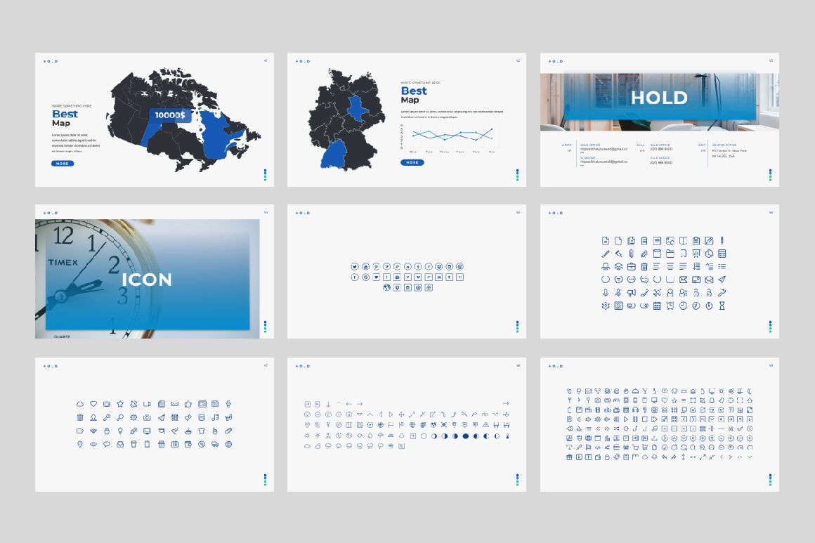 Hold Business Google Slide, Slide 6, 06165, Presentation Templates — PoweredTemplate.com