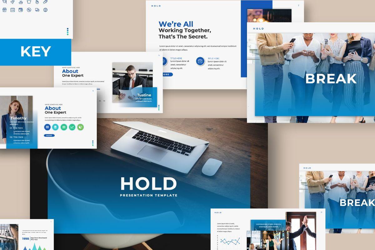Hold Business Keynote, 06166, Presentation Templates — PoweredTemplate.com