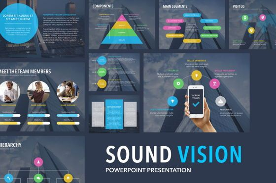 Presentation Templates: Sound Vision PowerPoint Template #06167