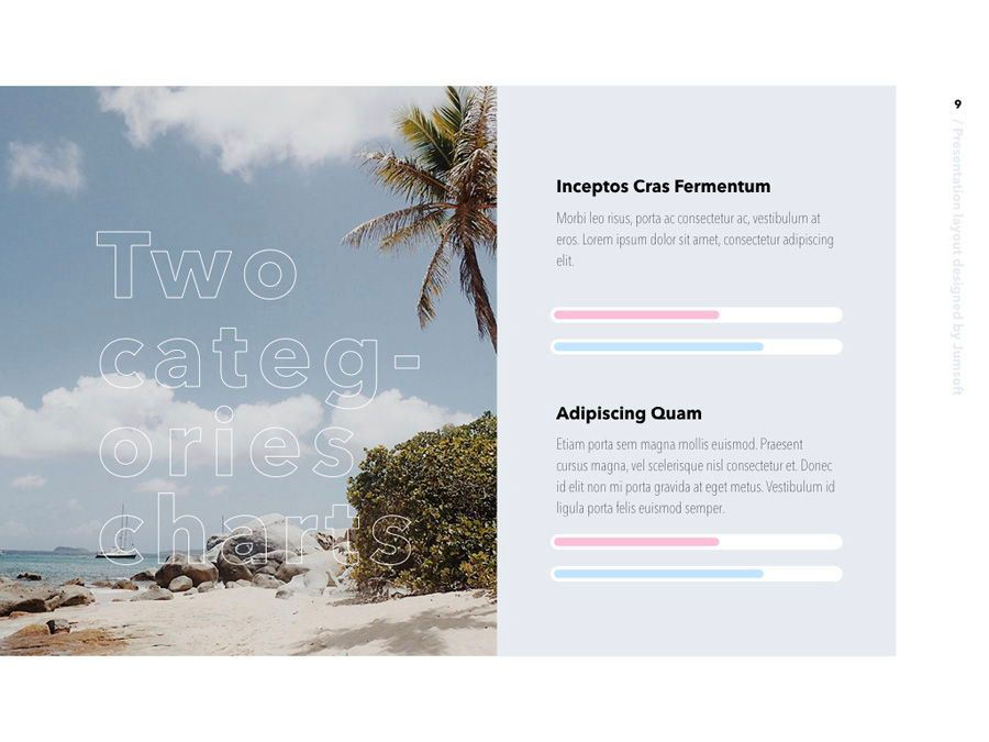 Summer Vibes Keynote Template, Slide 10, 06168, Presentation Templates — PoweredTemplate.com