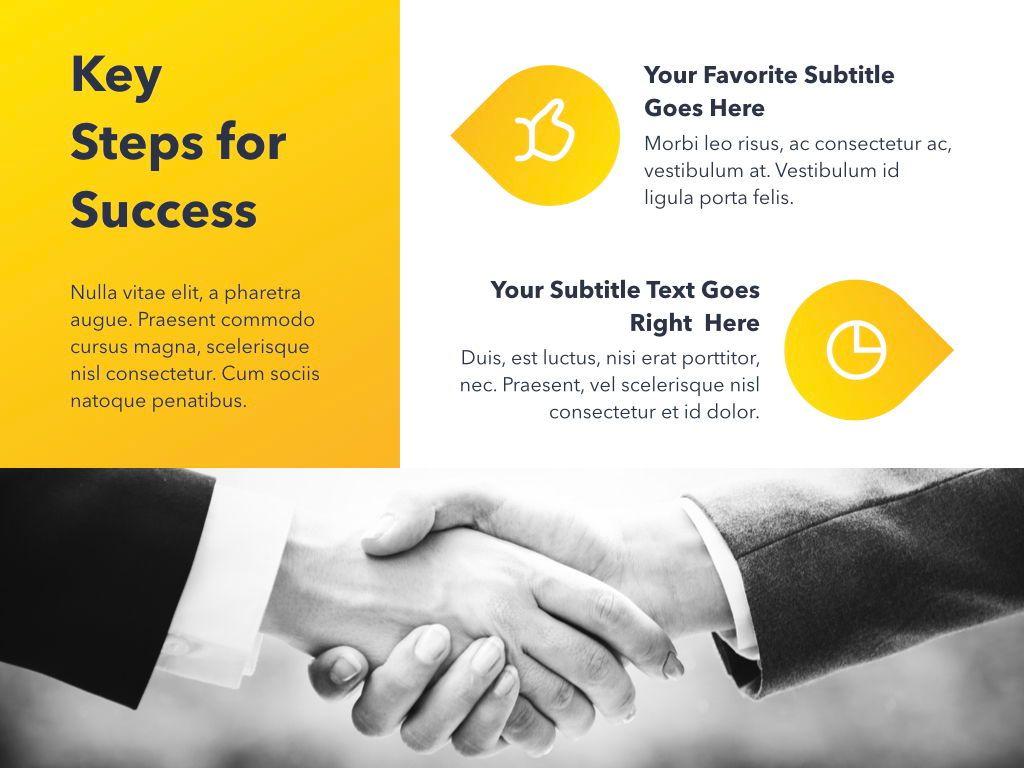 Yellow Concept PowerPoint Template, Slide 12, 06169, Presentation Templates — PoweredTemplate.com