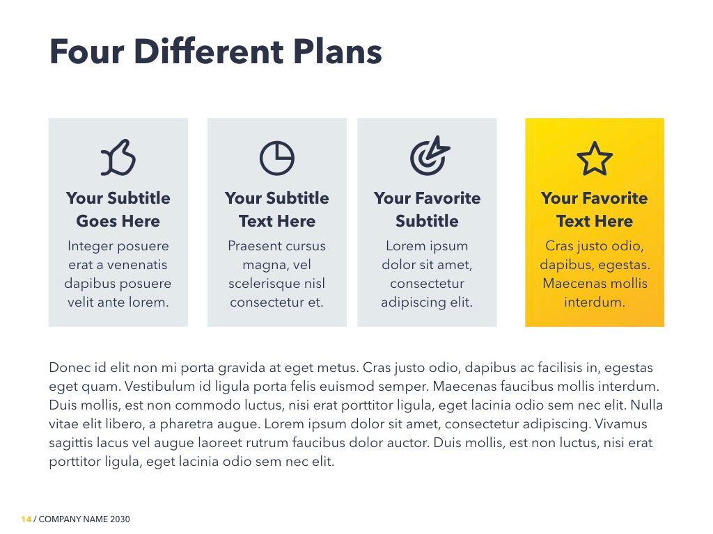 Yellow Concept PowerPoint Template, Slide 15, 06169, Presentation Templates — PoweredTemplate.com