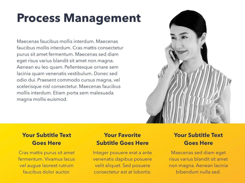 Yellow Concept PowerPoint Template, Slide 18, 06169, Presentation Templates — PoweredTemplate.com