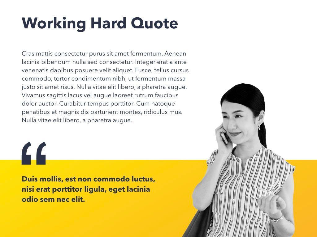 Yellow Concept PowerPoint Template, Slide 19, 06169, Presentation Templates — PoweredTemplate.com