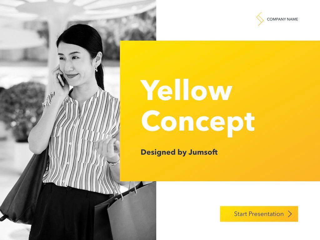 Yellow Concept PowerPoint Template, Slide 2, 06169, Presentation Templates — PoweredTemplate.com